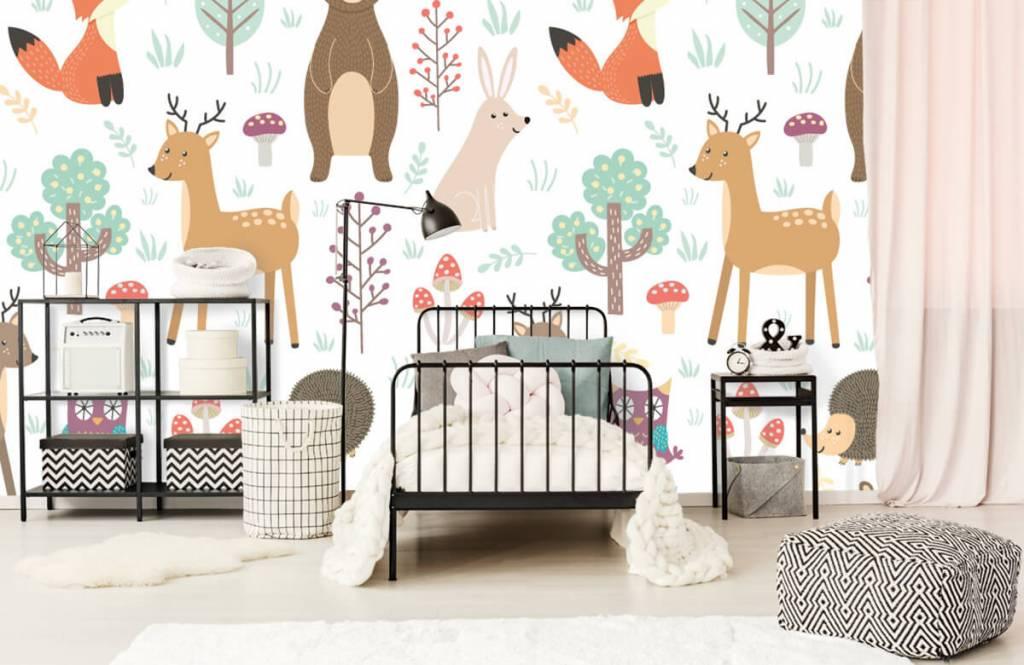 Children's wallpaper - Different animals - Children's room 2
