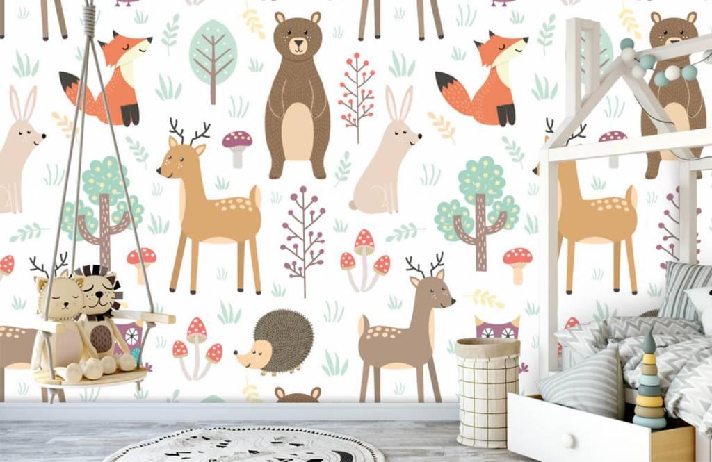 Children's wallpaper - Different animals - Children's room 3