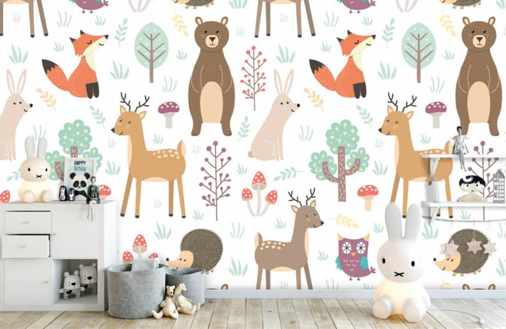 Children's wallpaper - Different animals - Children's room 4
