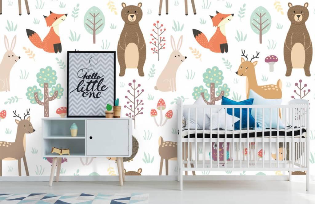 Children's wallpaper - Different animals - Children's room 6