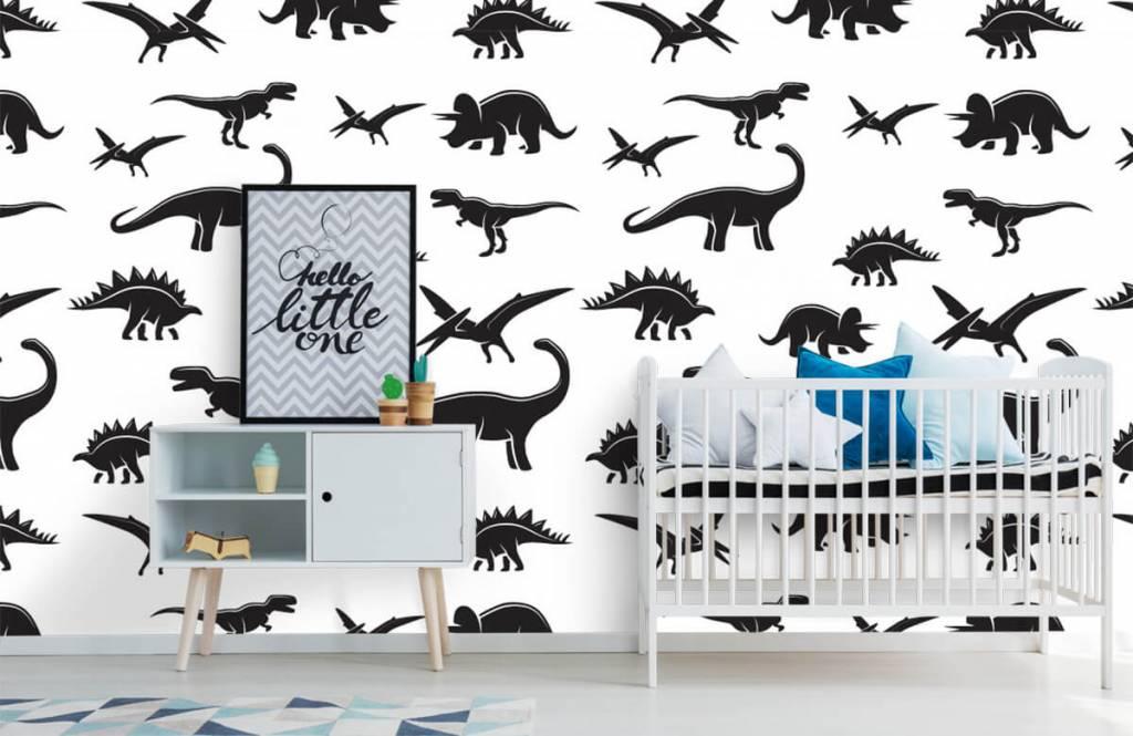 Dinosaurs - Black dinosaurs - Children's room 1