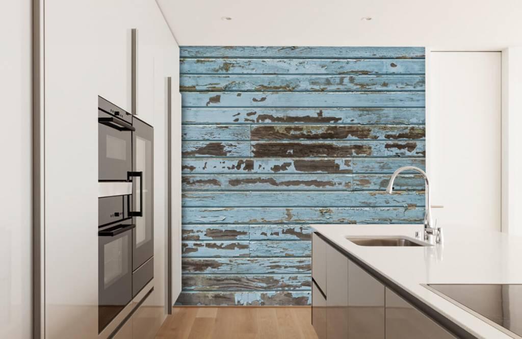Wooden wallpaper - Vintage wood - Bedroom 1