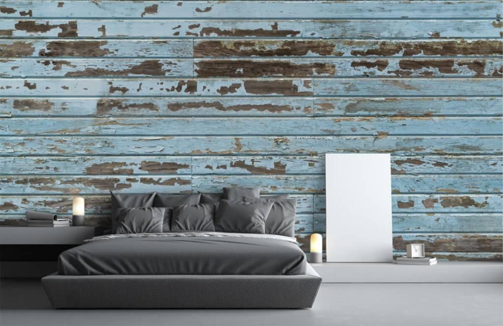 Wooden wallpaper - Vintage wood - Bedroom 3