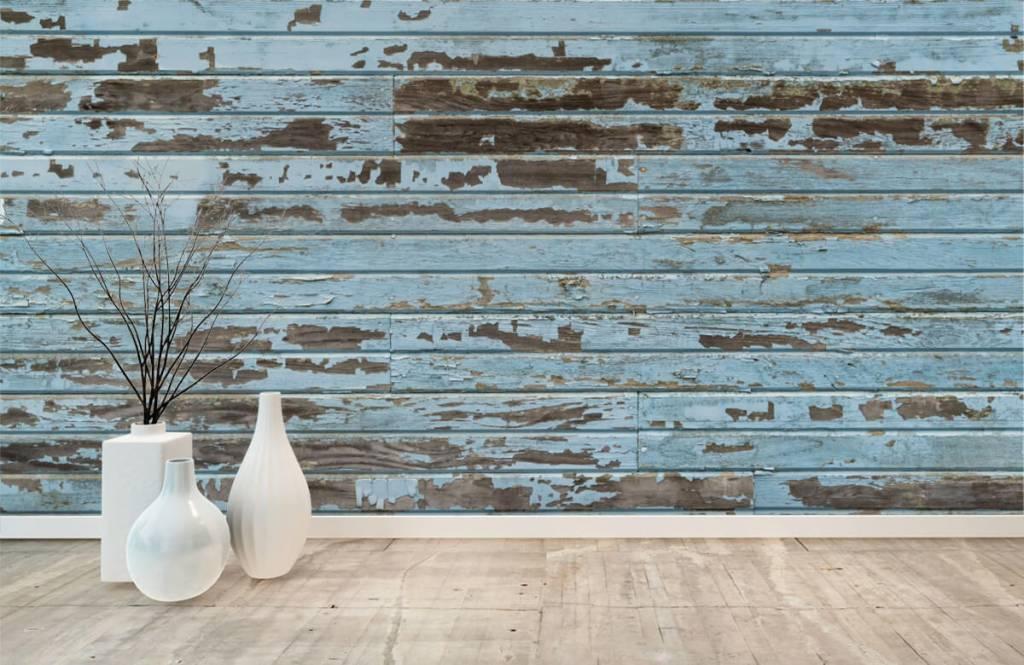 Wooden wallpaper - Vintage wood - Bedroom 8