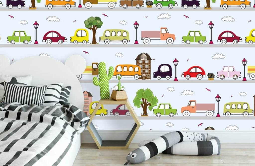Baby wallpaper - Vehicles - Baby room 4