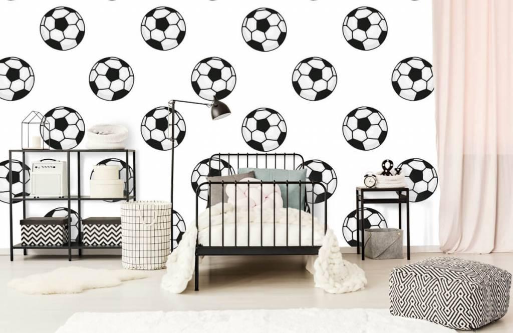 Soccer wallpaper - Voetballen - Children's room 1