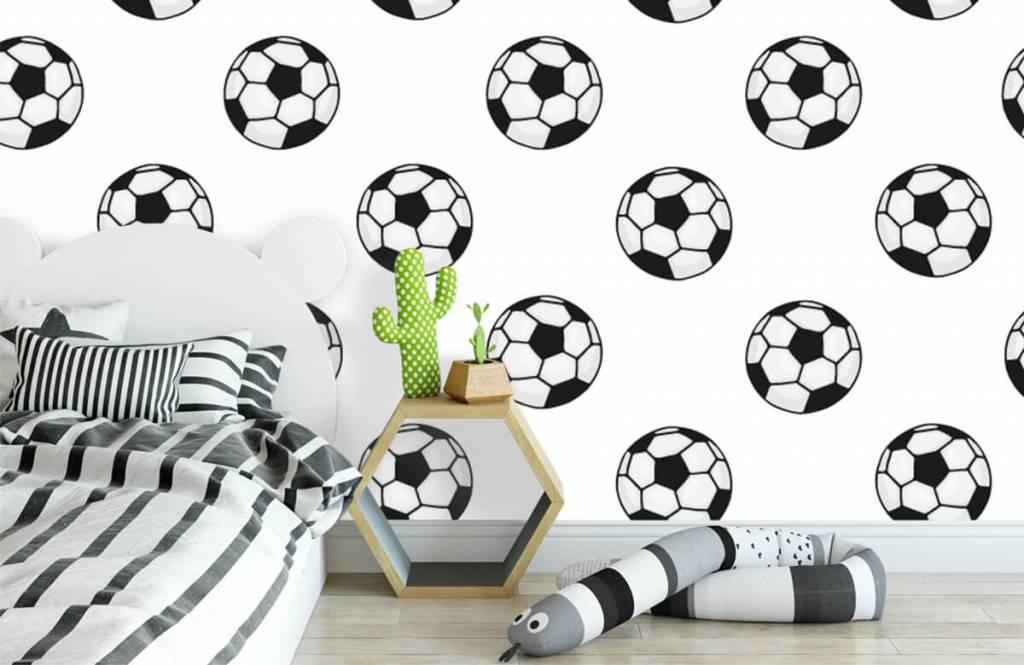 Soccer wallpaper - Voetballen - Children's room 2