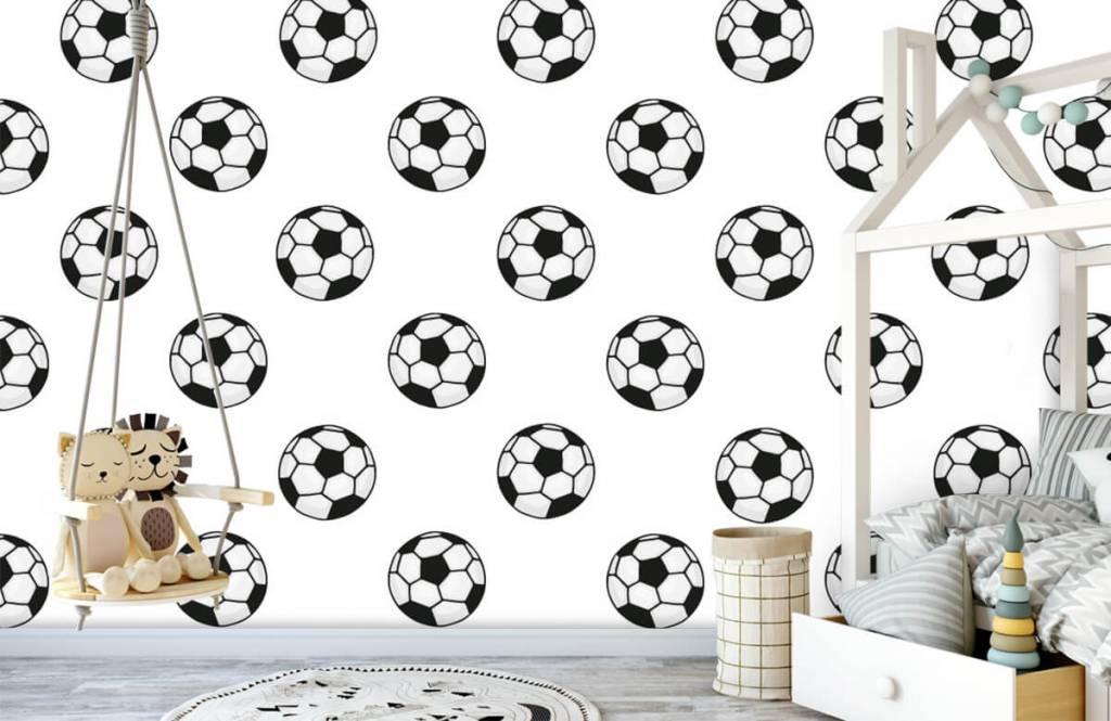 Soccer wallpaper - Voetballen - Children's room 3