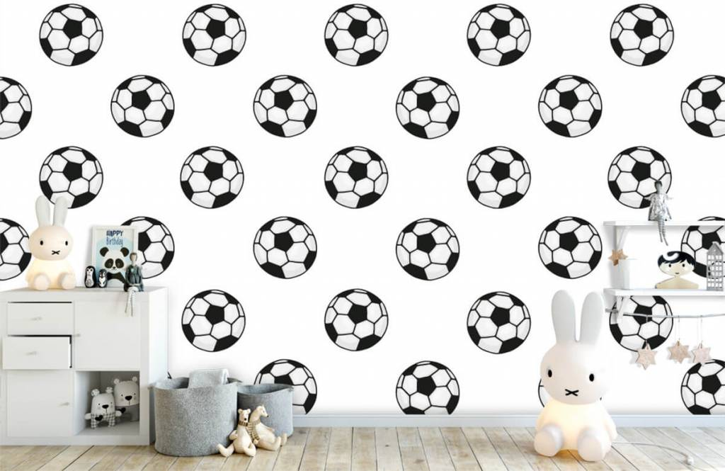 Soccer wallpaper - Voetballen - Children's room 5