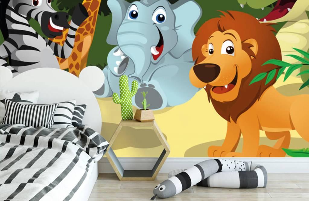 Safari Animals - Cheerful wild animals - Children's room 3