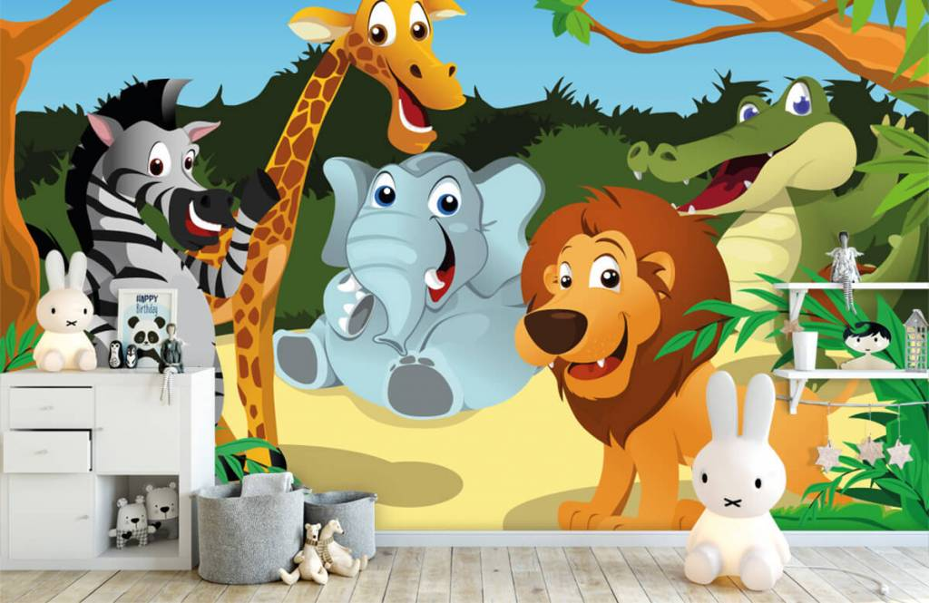 Safari Animals - Cheerful wild animals - Children's room 4