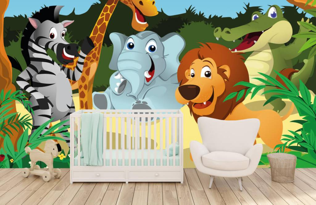 Safari Animals - Cheerful wild animals - Children's room 5