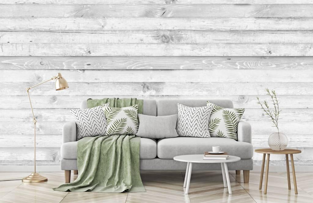 Wooden wallpaper - Whitewash wood horizontal - Hallway 1