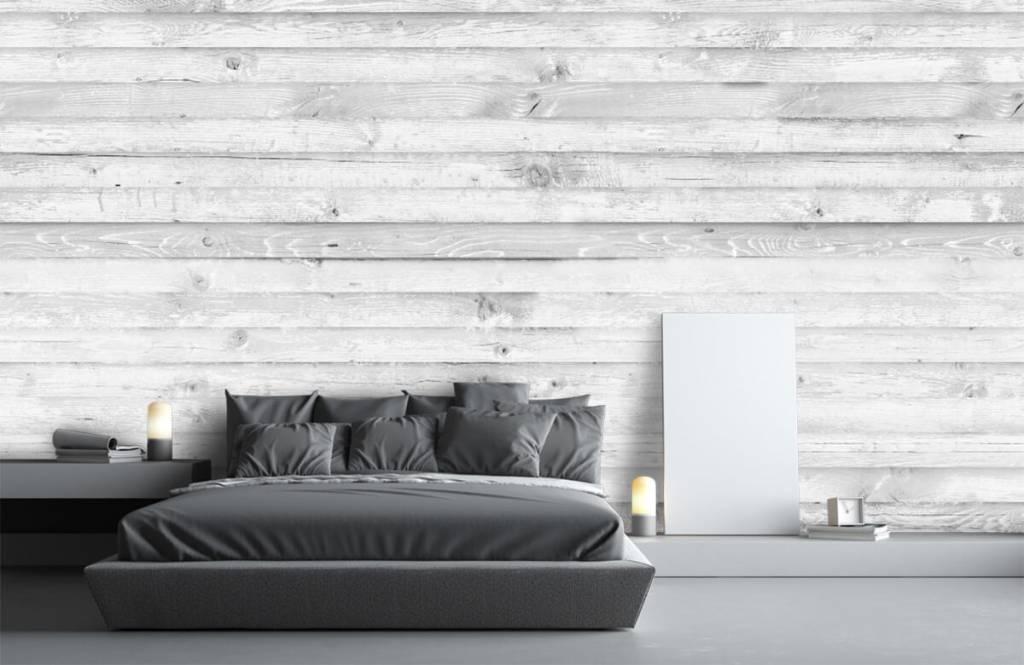 Wooden wallpaper - Whitewash wood horizontal - Hallway 3