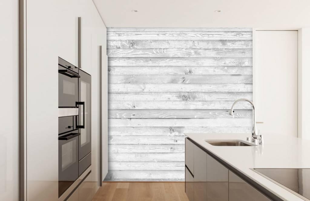 Wooden wallpaper - Whitewash wood horizontal - Hallway 4