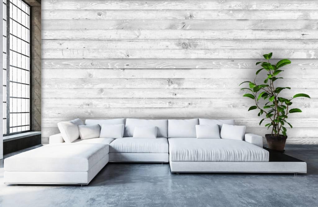 Wooden wallpaper - Whitewash wood horizontal - Hallway 6