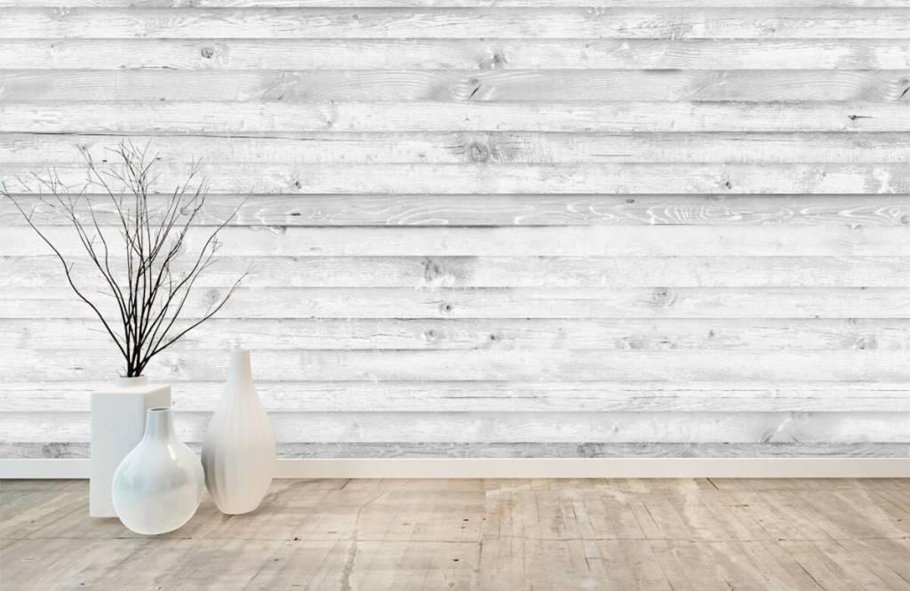 Wooden wallpaper - Whitewash wood horizontal - Hallway 8
