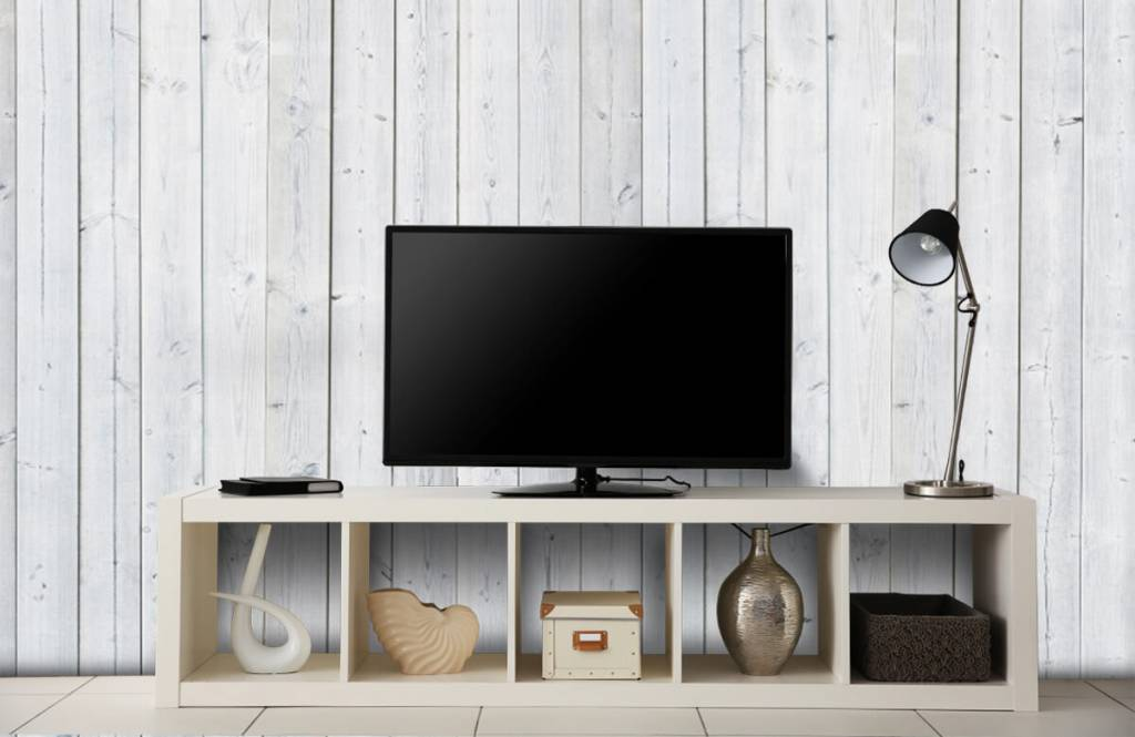 Wooden wallpaper - Whitewash wood vertical - Bedroom 1