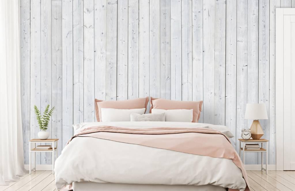 Wooden wallpaper - Whitewash wood vertical - Bedroom 2