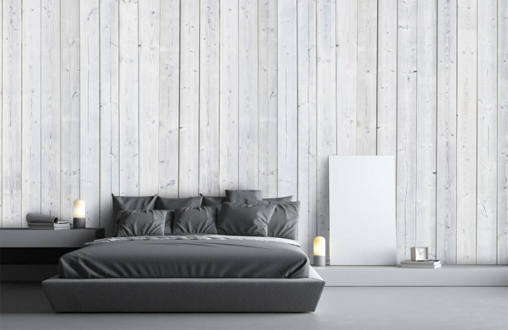 Wooden wallpaper - Whitewash wood vertical - Bedroom 3
