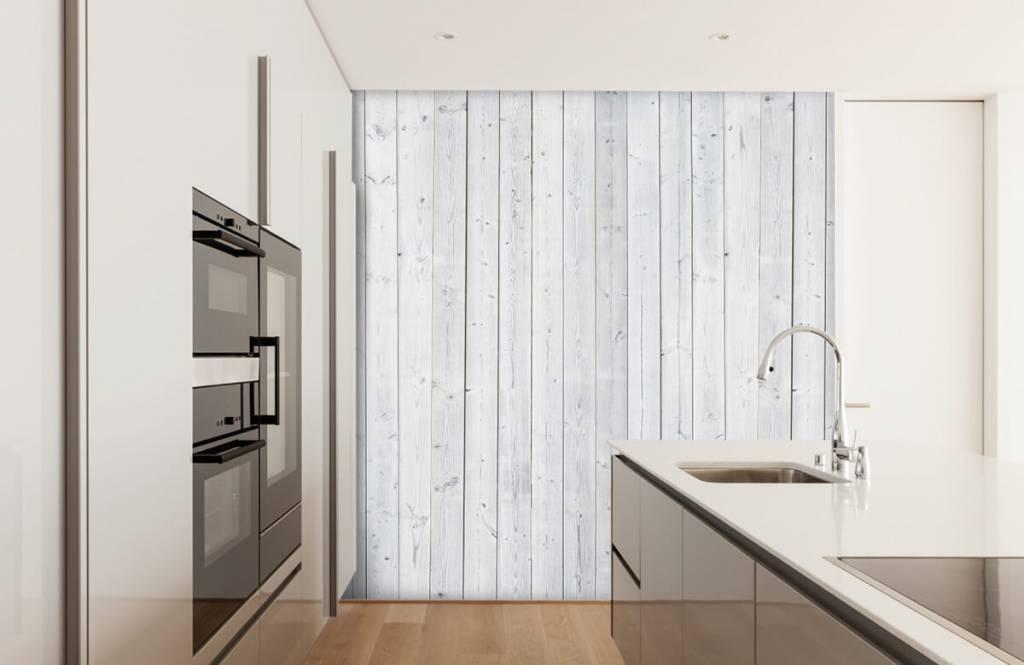 Wooden wallpaper - Whitewash wood vertical - Bedroom 4