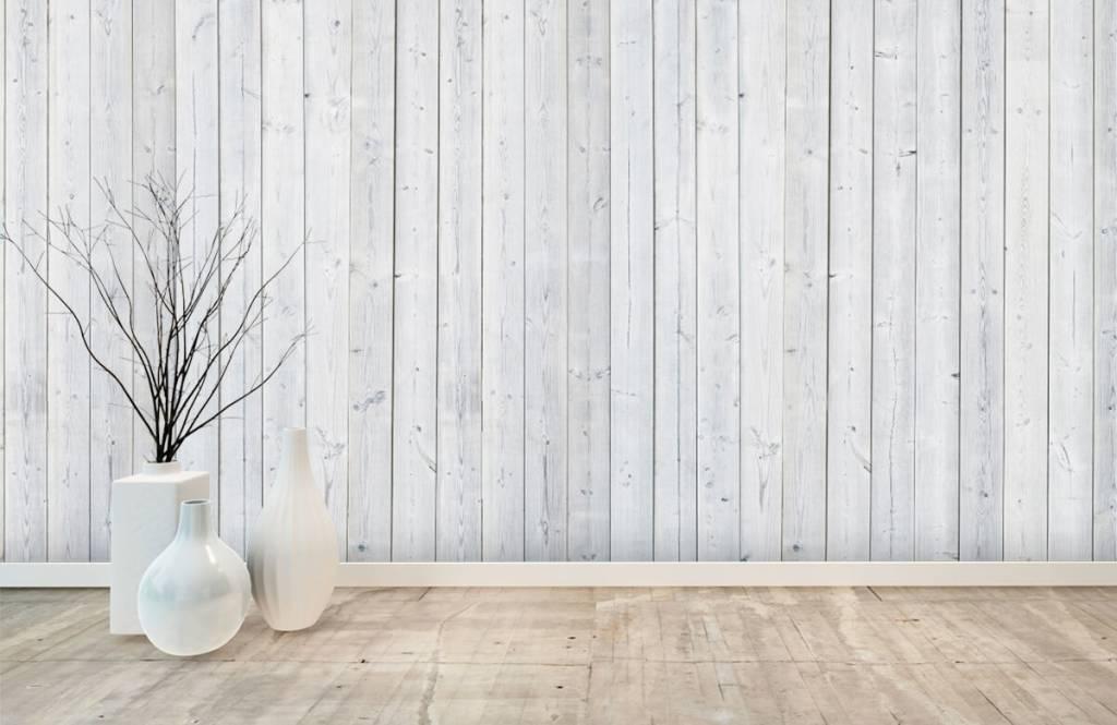 Wooden wallpaper - Whitewash wood vertical - Bedroom 8