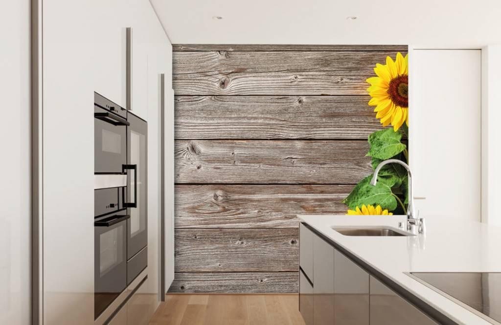 Sunflower - Sunflowers and wood - Garage 3