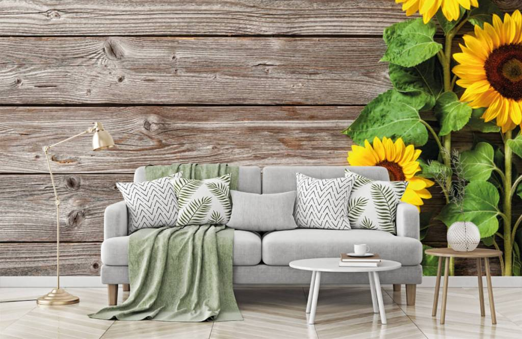 Sunflower - Sunflowers and wood - Garage 7