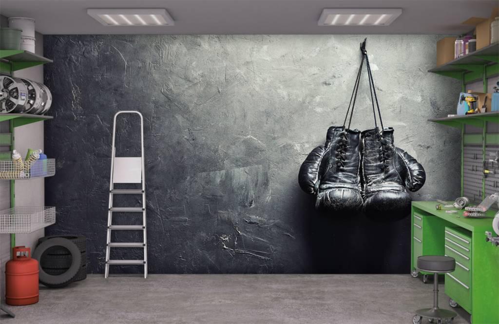 Fitness - Black boxing gloves - Hobby room 3