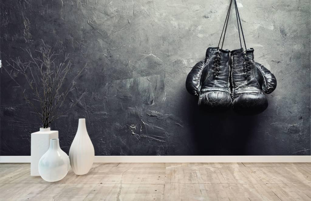 Fitness - Black boxing gloves - Hobby room 9