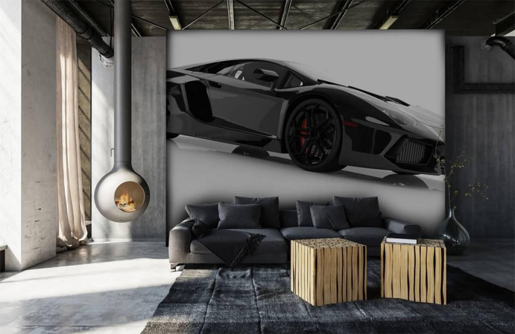 Transportation - Black supercar - Teenage room 1