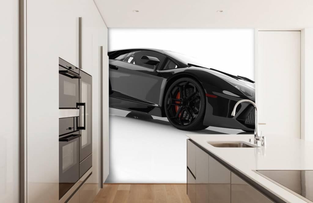 Transportation - Black supercar - Teenage room 3