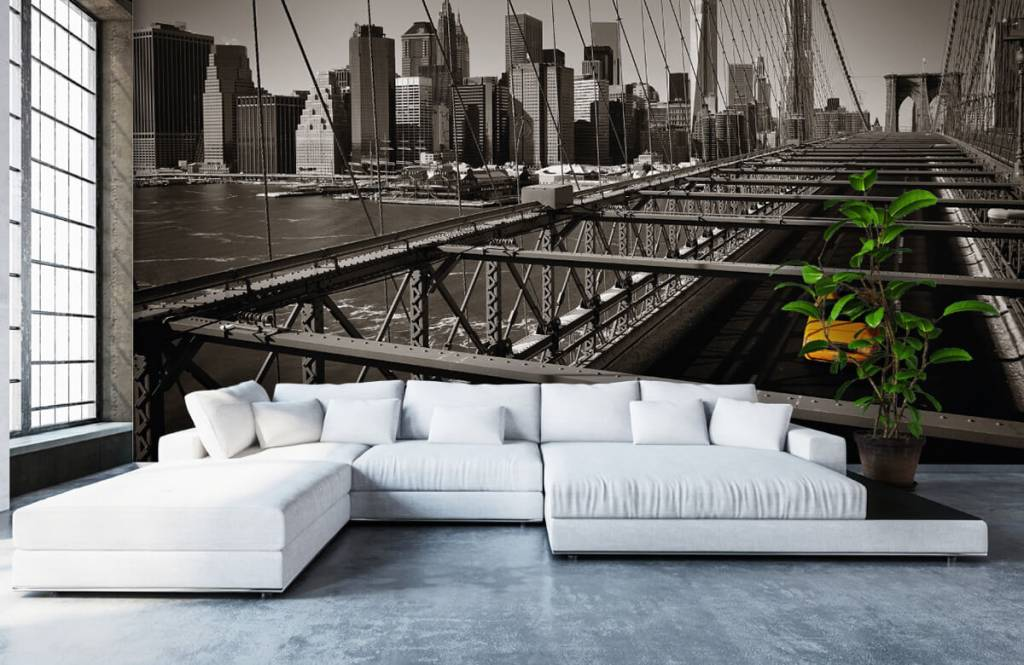 Black and white wallpaper - Skyline Manhattan - Teenage room 1