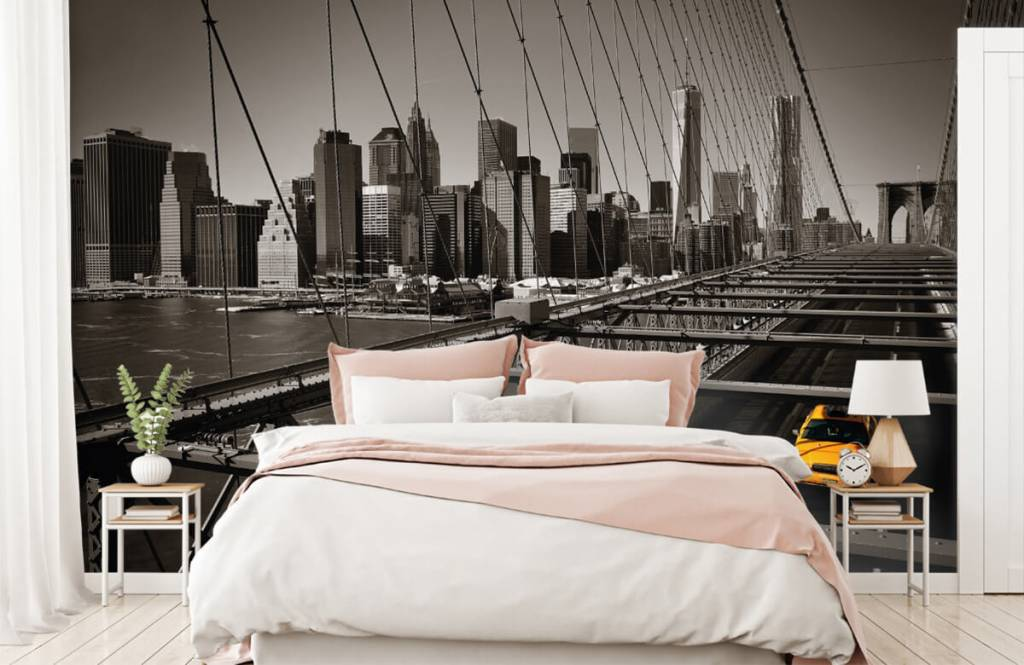 Black and white wallpaper - Skyline Manhattan - Teenage room 2