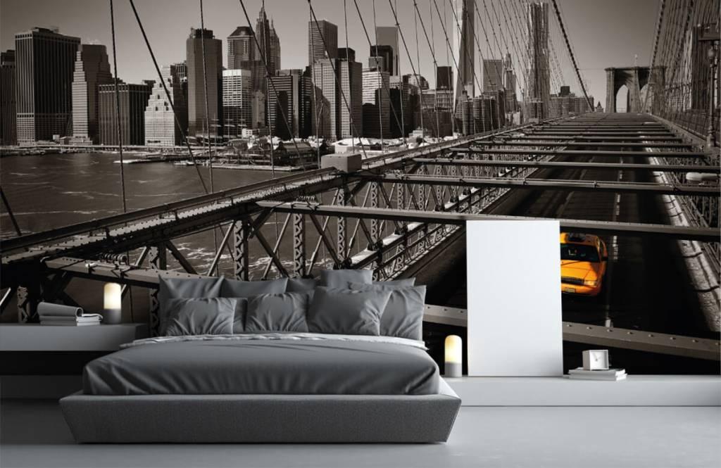 Black and white wallpaper - Skyline Manhattan - Teenage room 3