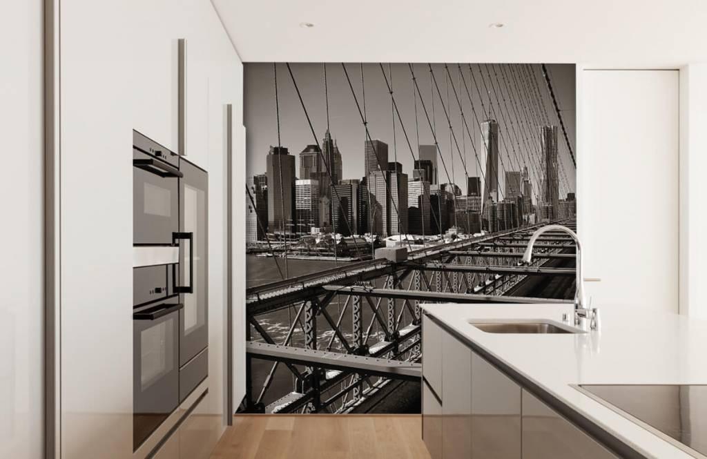 Black and white wallpaper - Skyline Manhattan - Teenage room 4