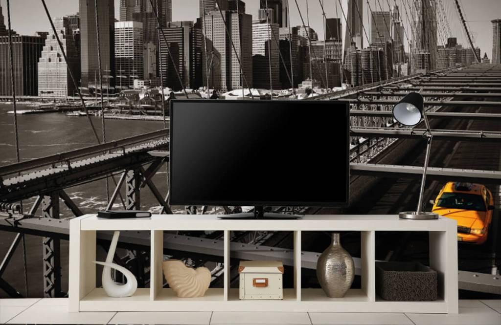 Black and white wallpaper - Skyline Manhattan - Teenage room 5