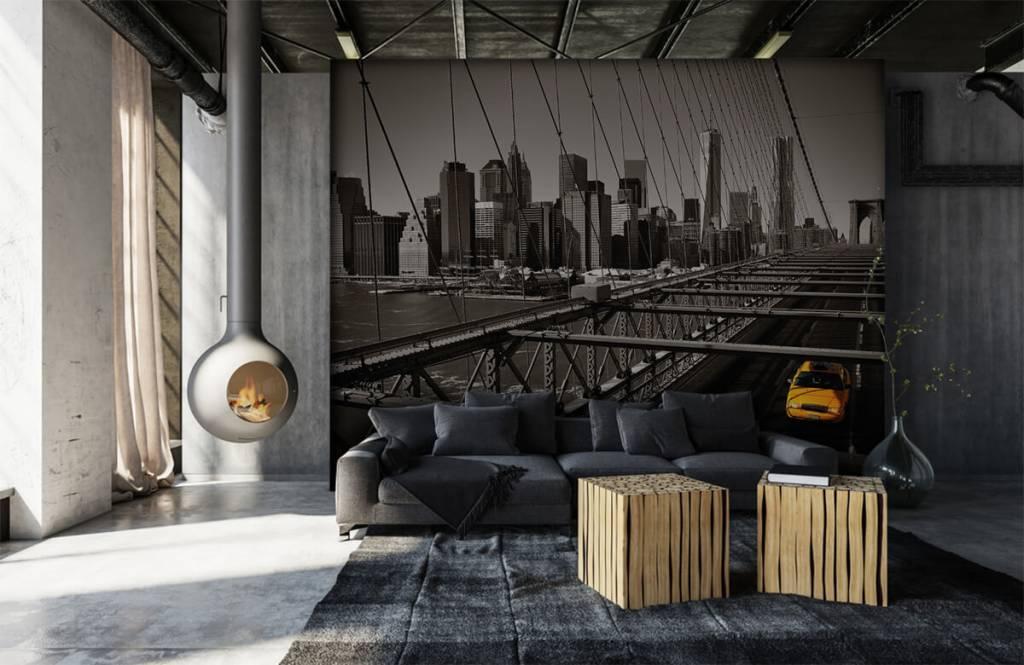 Black and white wallpaper - Skyline Manhattan - Teenage room 6