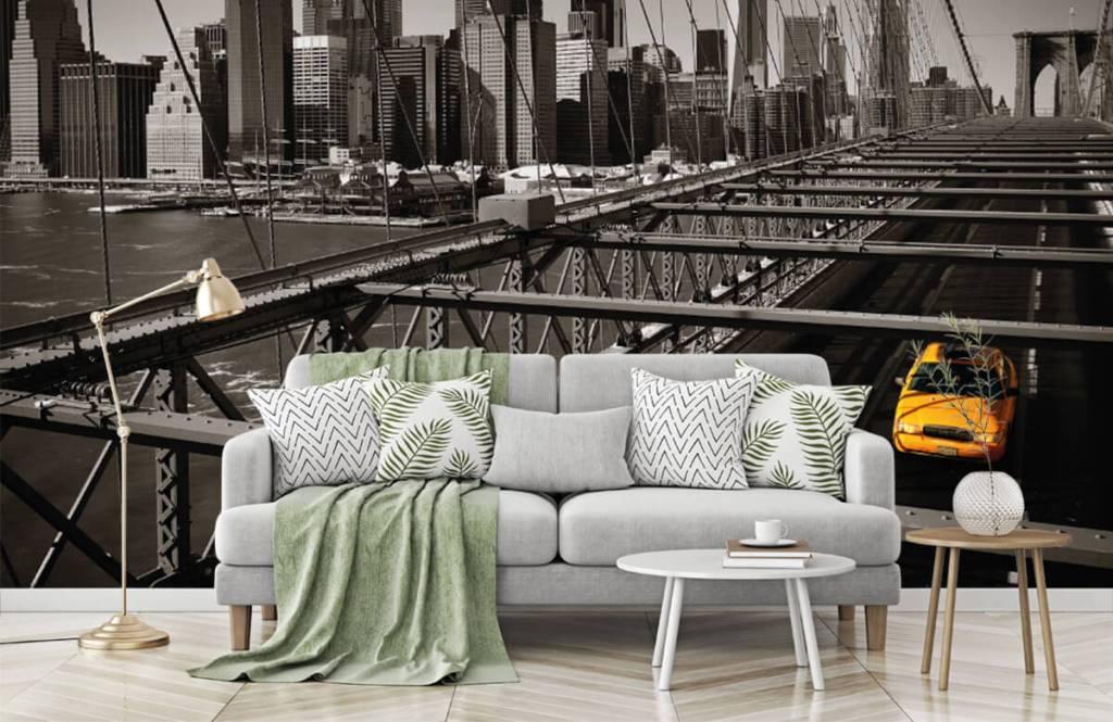 Black and white wallpaper - Skyline Manhattan - Teenage room 7