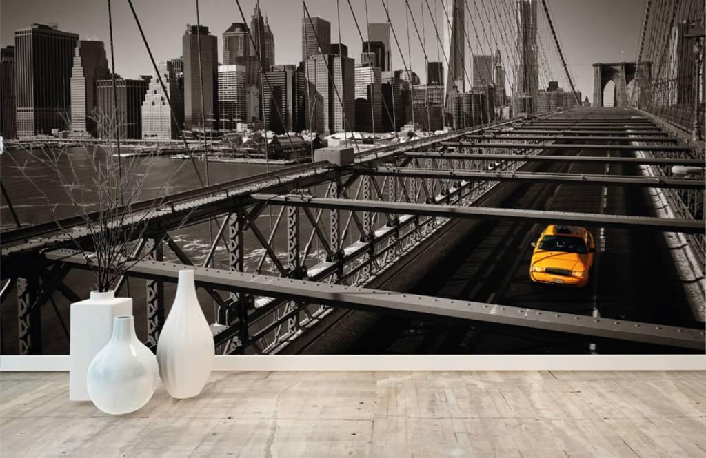 Black and white wallpaper - Skyline Manhattan - Teenage room 8
