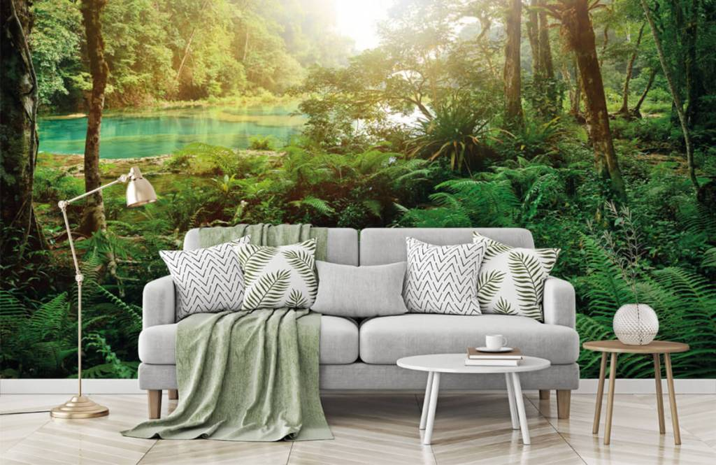 Forest wallpaper - Lake in the jungle - Bedroom 1