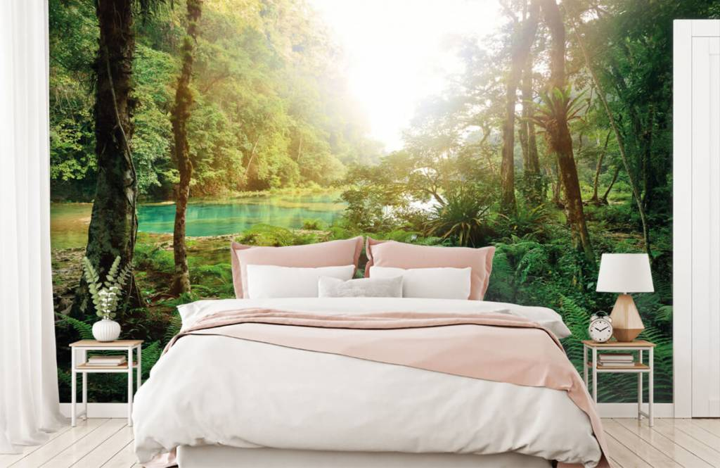 Forest wallpaper - Lake in the jungle - Bedroom 2