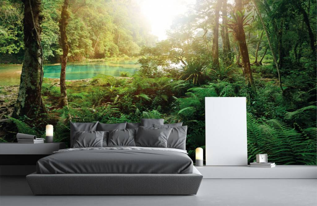 Forest wallpaper - Lake in the jungle - Bedroom 3