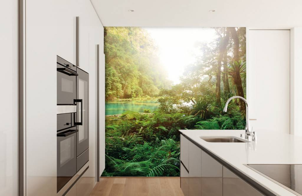 Forest wallpaper - Lake in the jungle - Bedroom 4