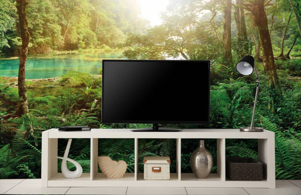 Forest wallpaper - Lake in the jungle - Bedroom 5