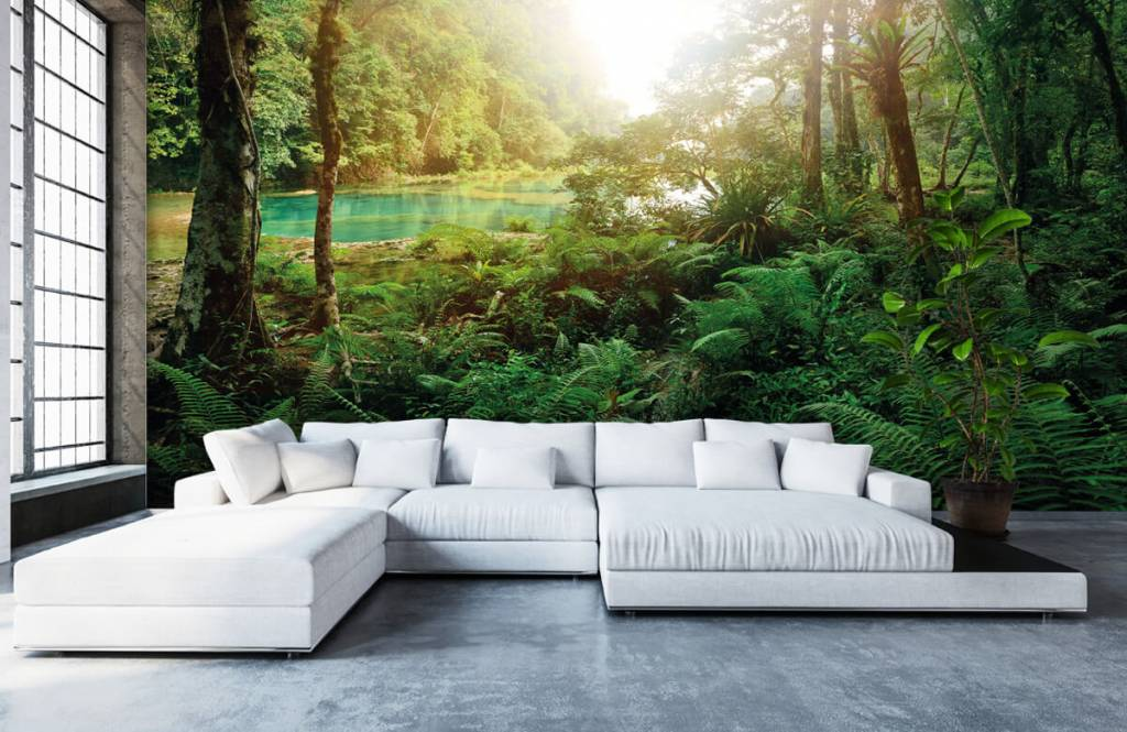 Forest wallpaper - Lake in the jungle - Bedroom 6