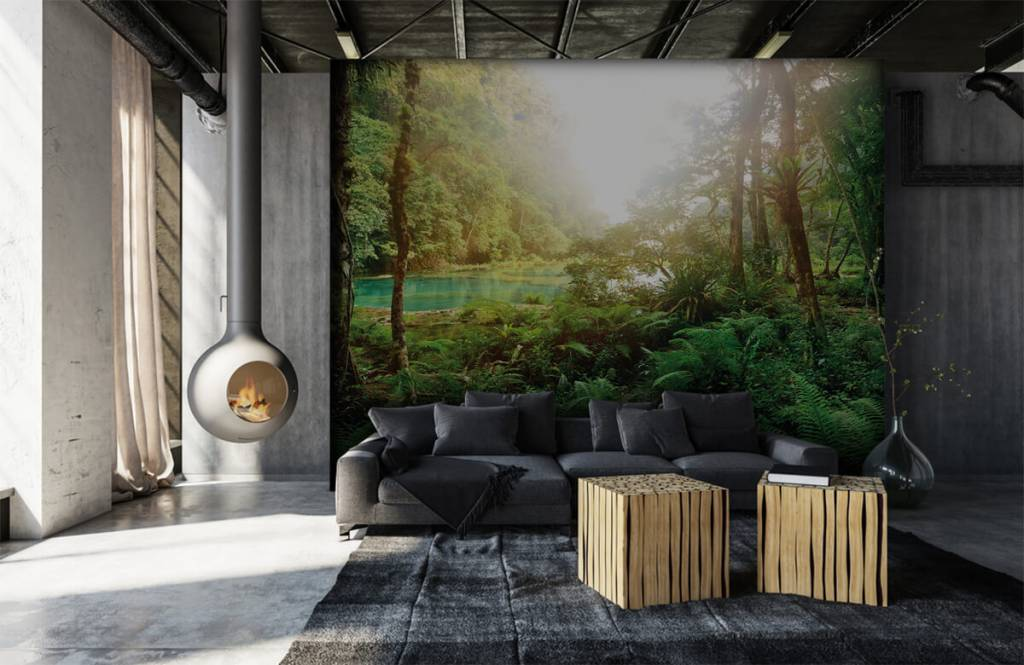 Forest wallpaper - Lake in the jungle - Bedroom 7