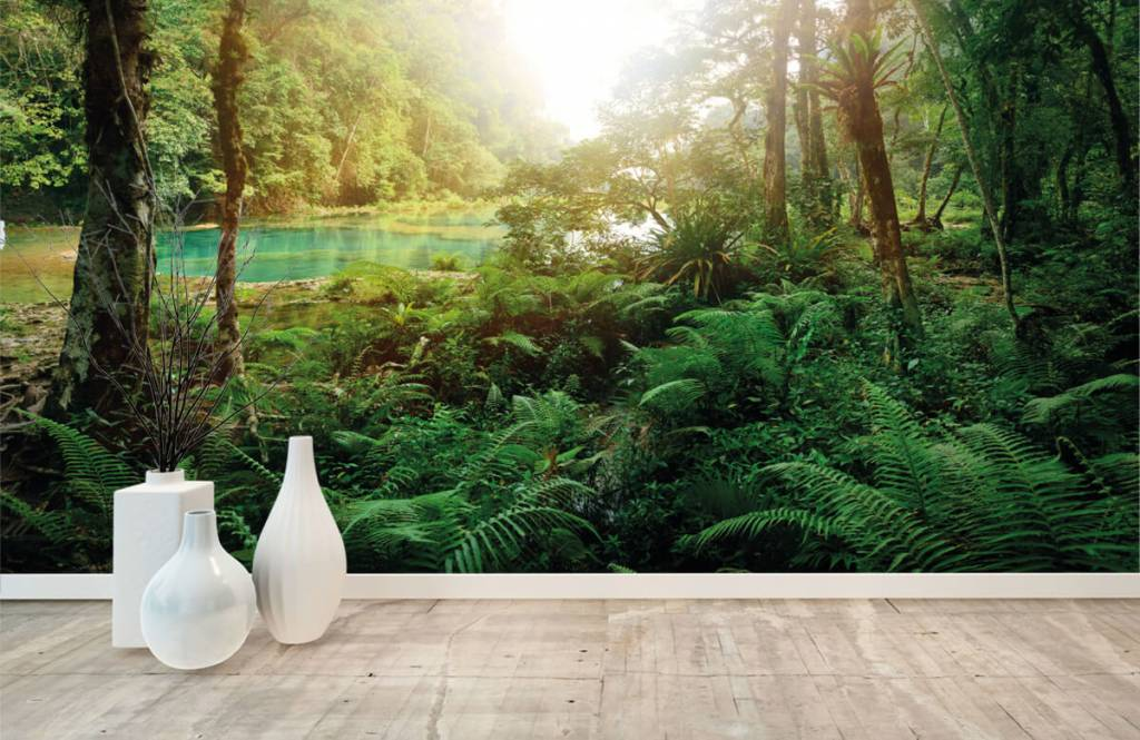 Forest wallpaper - Lake in the jungle - Bedroom 8