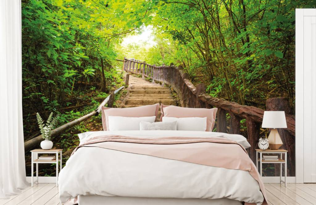 Forest wallpaper - Stairs in a forest - Bedroom 2