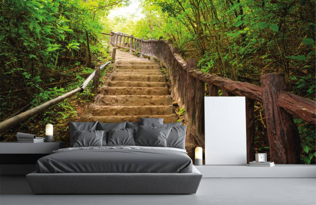 Forest wallpaper - Stairs in a forest - Bedroom 3